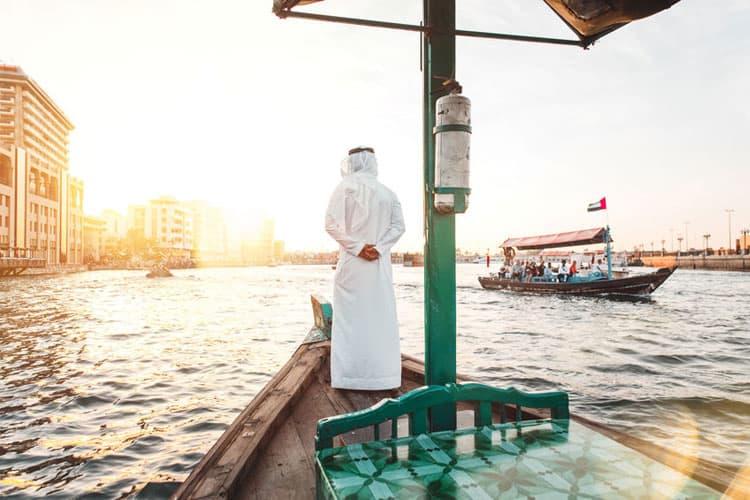 Vaar van Dubai Marina naar Dubai Creek