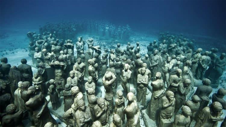 Onderwatermuseum bij Lanzarote