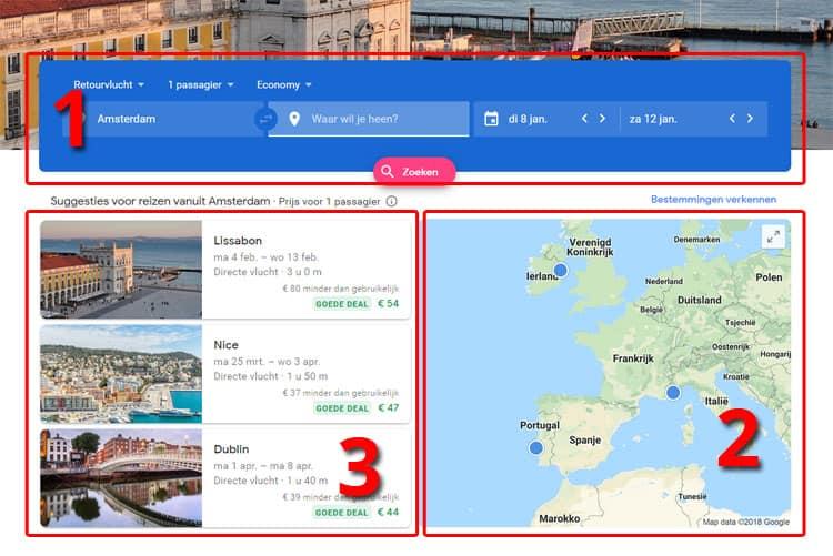 3 manieren om met Google Flights vluchten te zoeken