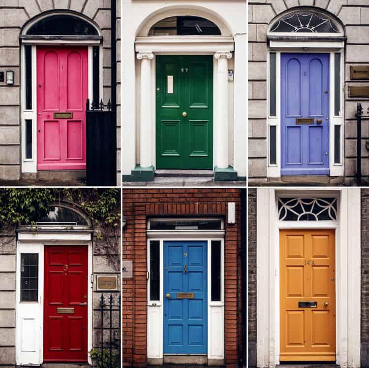 Georgian Quarter deuren in Dublin